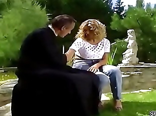 Hot MILF Anal Fucked Outdoor in German Classic..
