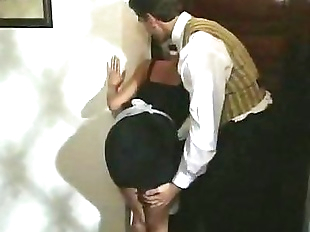 Sexy Blonde Maid gets turned on and dick downed..