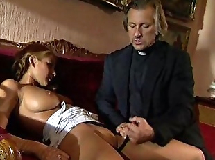 Young blonde lolita punished and fucked by..