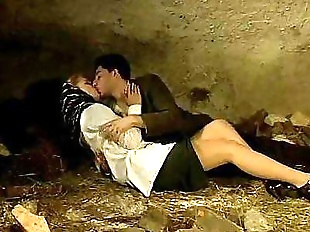 Italian porn vintage: sex in a cave with a sexy..